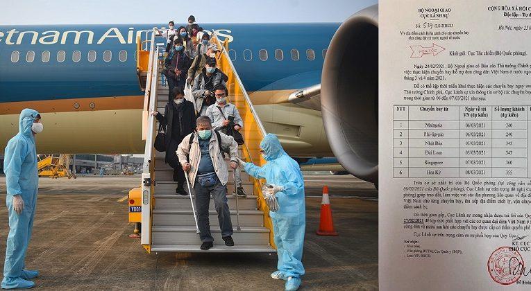 Tin vui: Ngày 5/3 có Chuyến bay Giải cứu đưa 343 Công dân Việt Nam về nước