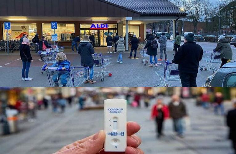 """Đức: Vừa mở cửa hàng, bộ tự xét nghiệm C͟o͟r͟o͟n͟a͟ ͟ đã bán hết """"sau vài phút"""""""