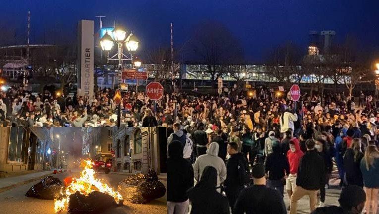 Canada: Biểu tình chống giới nghiêm ở Montreal biến thành bạo động