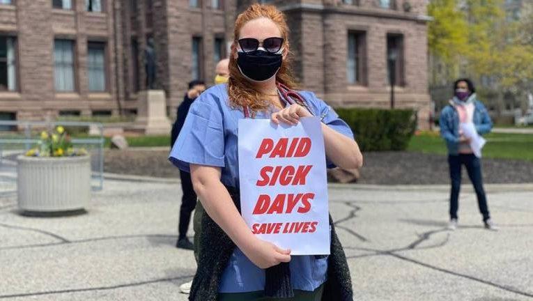 Ontario công bố chương trình nghỉ ốm có lương để hạn chế lây truyền 𝐂𝐎𝐕𝐈𝐃-𝟏𝟗