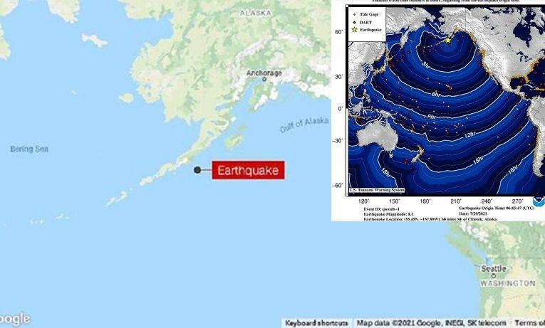Cảnh báo nguy cơ sóng thần tại Mỹ và Canada sau động đất ở Alaska